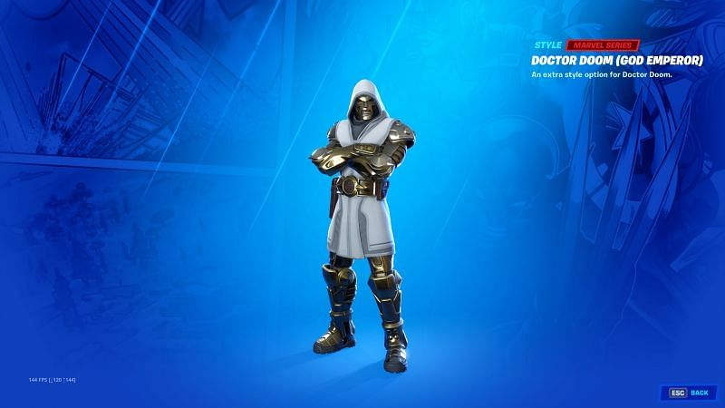 Doctor Doom God Emperor outfit, Fortnite (Image Credits: Nifey)
