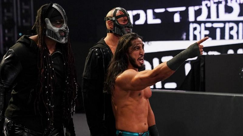 Did Mustafa Ali suddenly just become a member of RETRIBUTION?