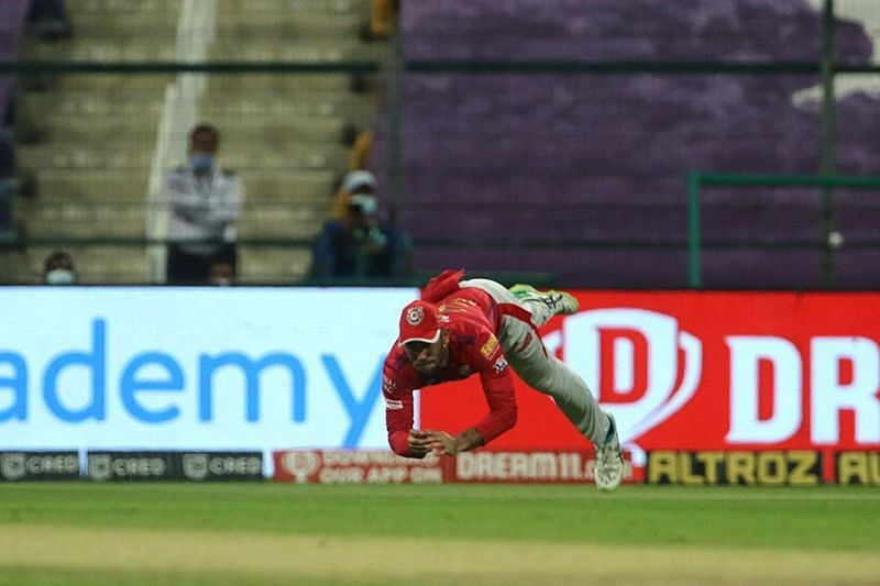 Maxwell dropped a tough catch of Ben Stokes in the second over of the Rajasthan Royals innings. [P/C: iplt20.com]