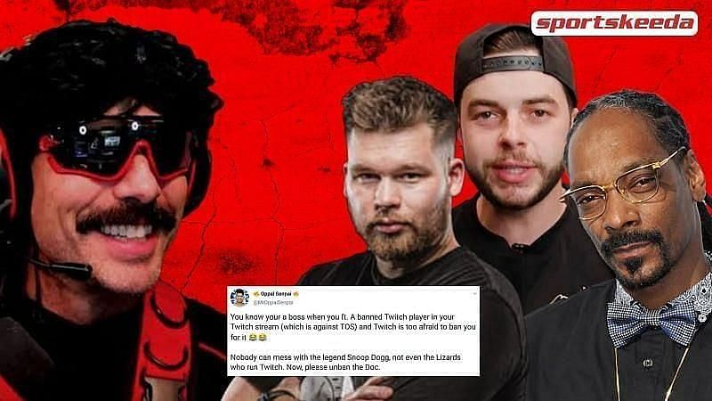 Dr DisRespect recently featured on Twitch with other streamers.