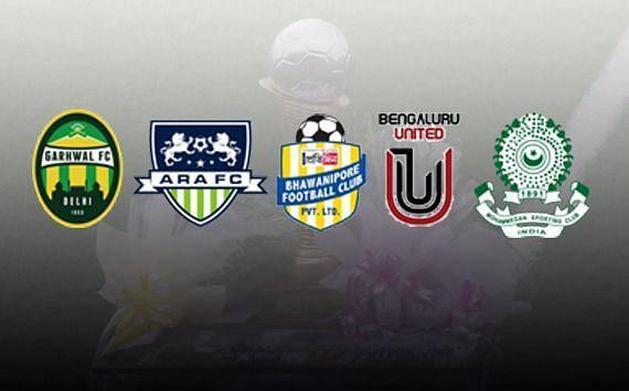 5 teams will play for an I-League 2020/21 spot.
