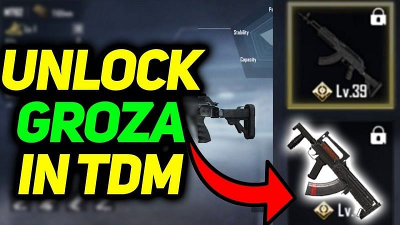 PUBG Mobile: How to get Groza in TDM? (Image Credits: NewwzTube / YouTube)