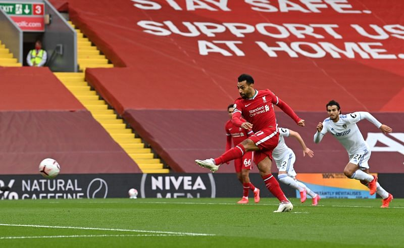 The Egyptian scored has scored nine straight Premier League penalties.