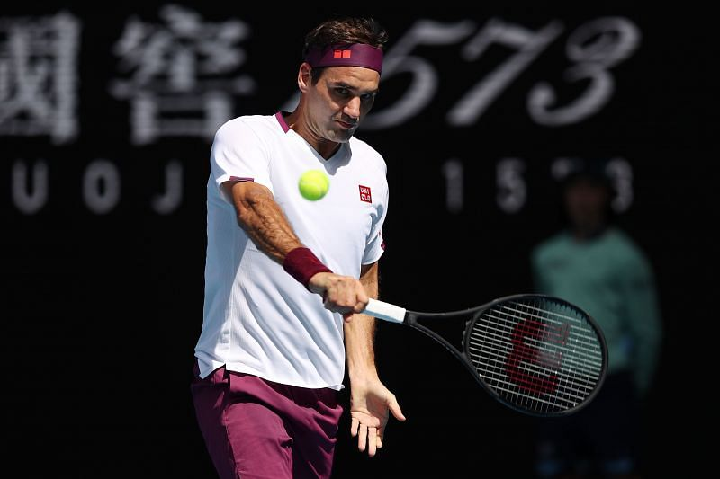 Roger Federer at the 2020 Australian Open in Melbourne earlier this year