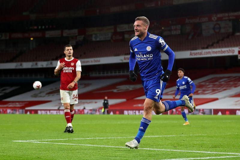 Jamie Vardy scored the winner against Arsenal this past weekend but is expected to be rested against AEK Athens