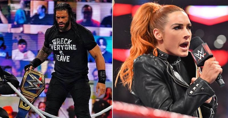 Roman Reigns and Becky Lynch