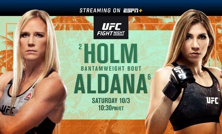 UFC FIGHT ISLAND 4: HOLM VS. ALDANA RESULTS