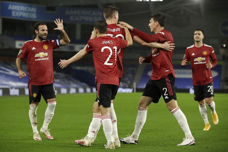 Manchester United beat Brighton 3-0 to progress to the quarter-finals of the 2020-21 Carabao Cup.