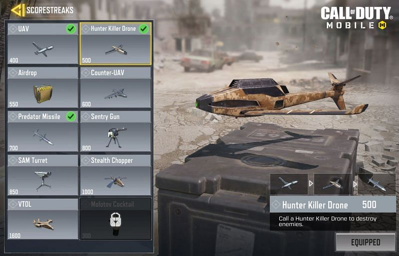 Scorestreaks makes the gameplay exciting for the players in COD Mobile (Image credit: COD)
