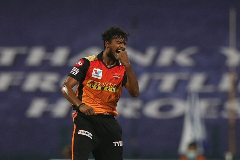 T Natarajan has stood out with his death bowling in IPL 2020 [P/C: iplt20.com]