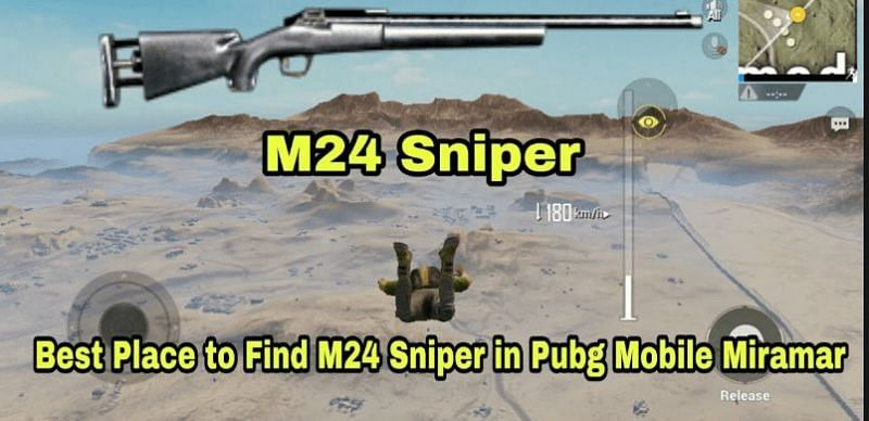 Best locations to find M24 in Miramar (Image credits: PUBG Mobile tips and tricks.com)