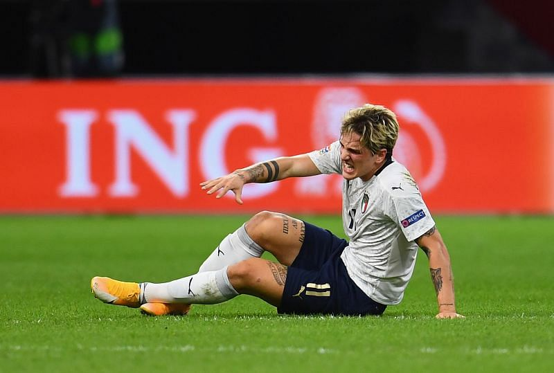Nicolo Zaniolo suffered an ACL injury in Italy