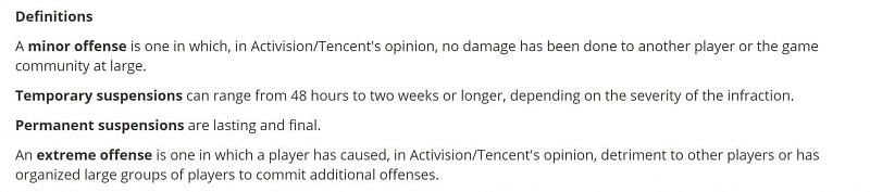 Categorization of offences