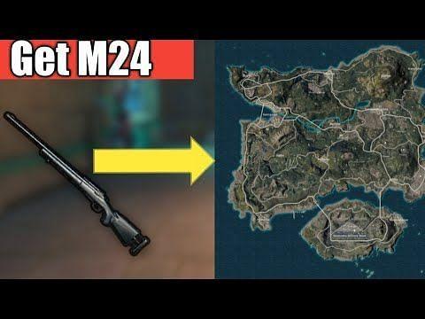 M24 sniper location in Erangel map (Image credits: CHETAN