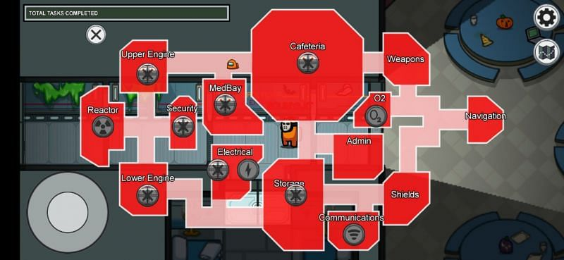 The map once it is Sabotaged