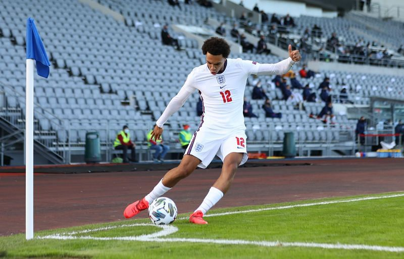 Alexander-Arnold in action for England