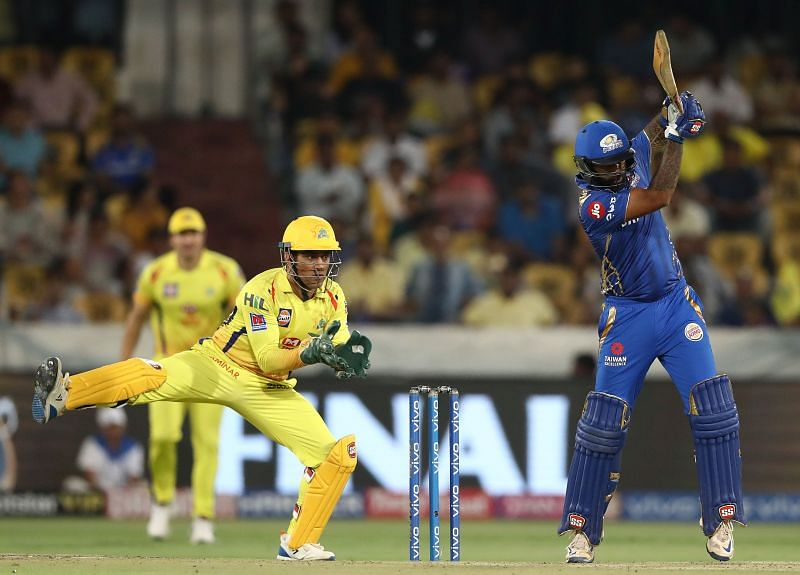 Suryakumar Yadav in action against CSK during IPL 2019