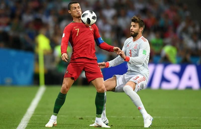 Ronaldo scored a stunning hat-trick the last time Portugal met Spain