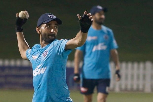 Ajinkya Rahane during a practice session for DC