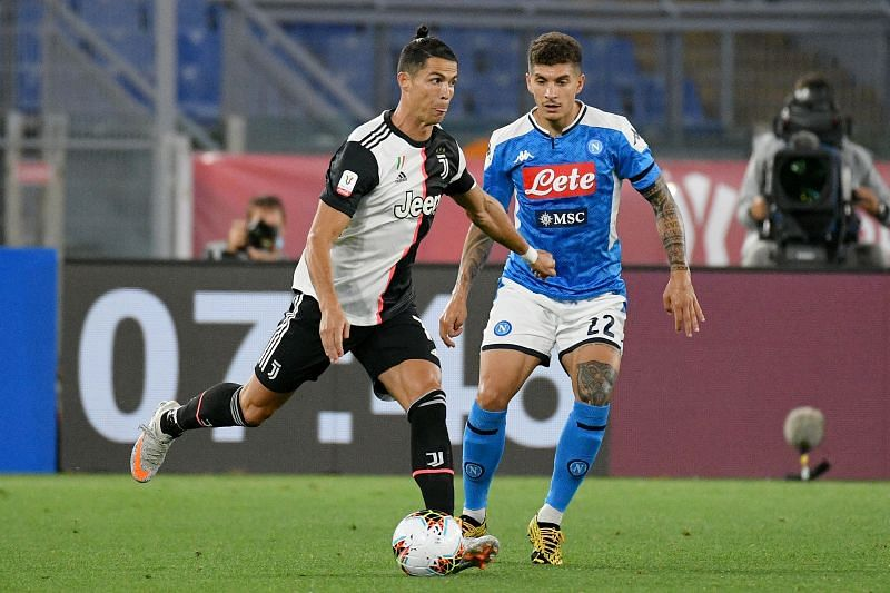Cristiano Ronaldo in action for Juventus.