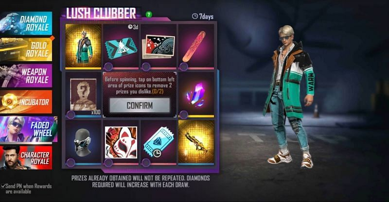 The Faded Wheel event in Free Fire