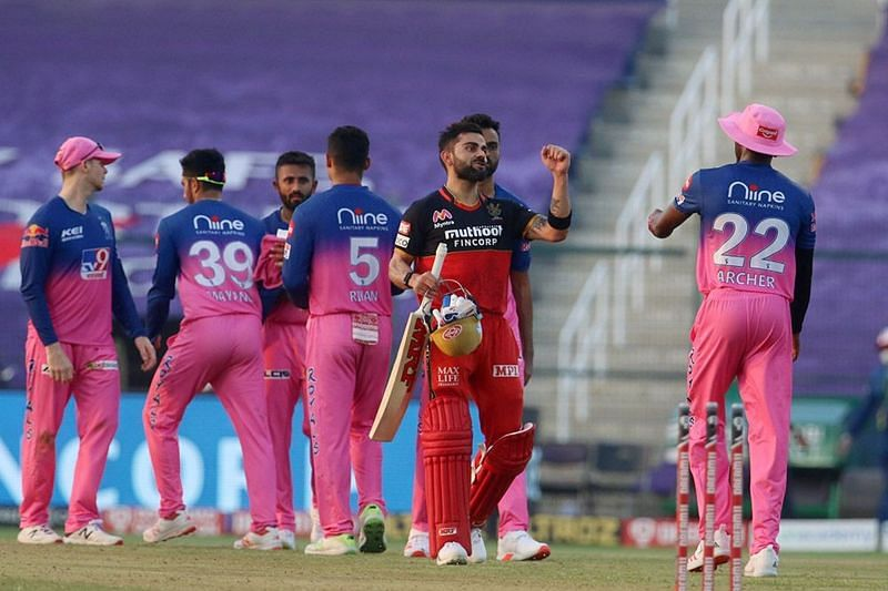 The Rajasthan Royals take on the Royal Challengers Bangalore in Match 31 of IPL 2020.