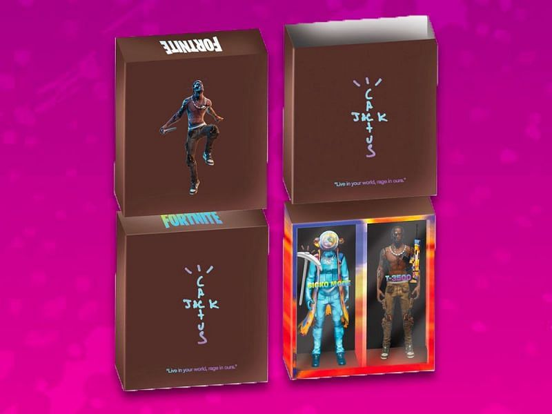 Tracis Scott X Fortnite action figures (Image Credits: The Pop Insider)