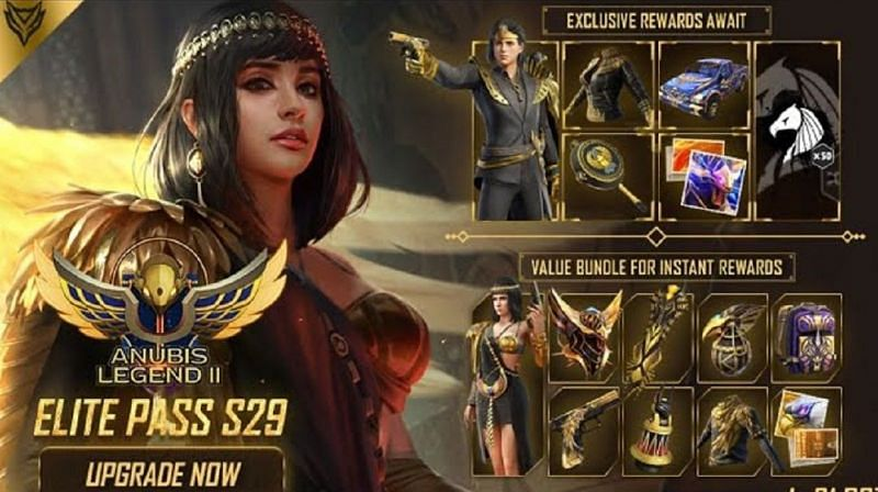 Free Fire The Anubis Legend 2 Elite Pass (Season 29): All the free rewards (Image Credits: Free Fire)