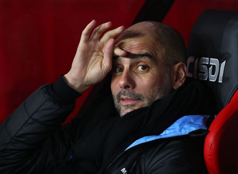 Pep Guardiola the head coach / manager of Manchester City