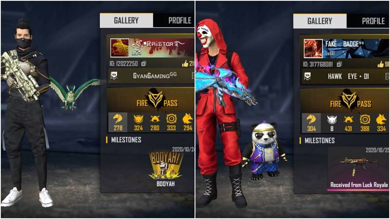 Raistar vs Badge 99: Who has better stats in Free Fire?