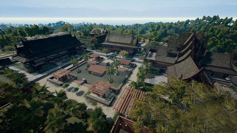 Paradise Resort in Sanhok map in PUBG Mobile (Image credits: GamesRadar.com)