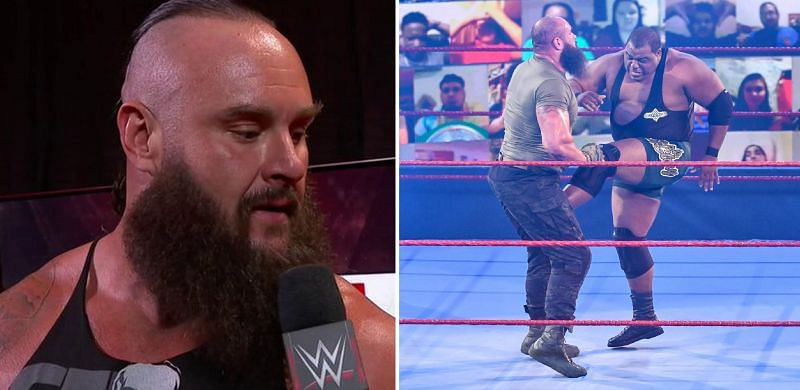 Braun Strowman reacts to Keith Lee