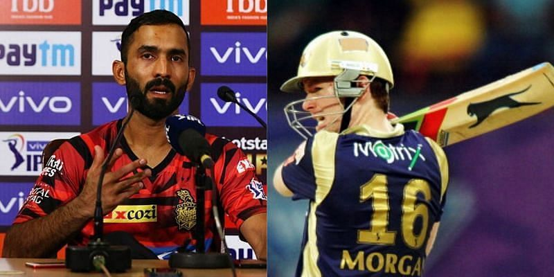 Dinesh Karthik batted ahead of Eoin Morgan for KKR against DC