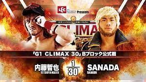 Tetsuya Naito vs. SANADA headlines Night 8 of the G1 Climax 30.