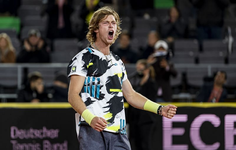 Andrey Rublev at the 2020 Hamburg Open.