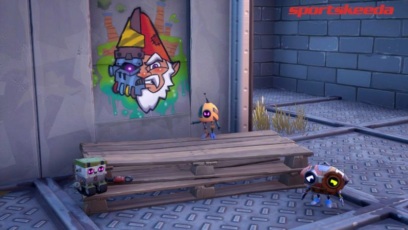 A new Evil Gnome has entered the island and is on a mission to destroy other friendly gnomes in Fortnite (Image credit: Sportskeeda)