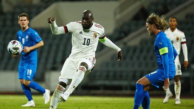 Romelu Lukaku scored for a second consecutive game for Belgium against Iceland