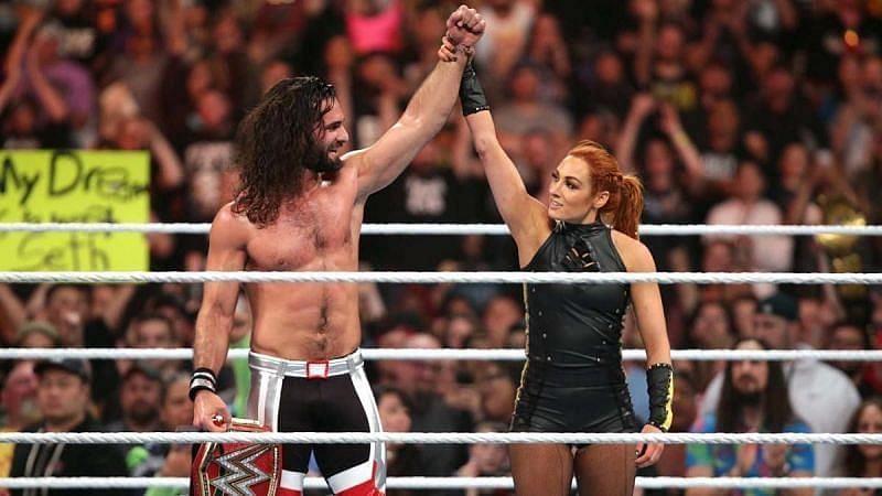 WWE सुपरस्टार सैथ रॉलिंस और बैकी लिंच