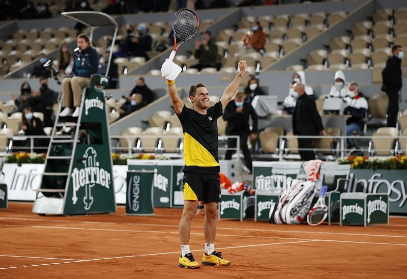 Diego Schwartman defeated Dominic Thiem to reach his first ever Grand Slam semi-final