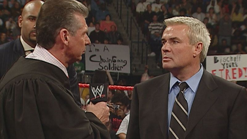 Eric Bischoff and Vince McMahon have been rivals at the highest level and at the same time they have worked together after Vince McMahon bought out WCW and hired Eric Bischoff as the General Manager of WWE RAW the next year