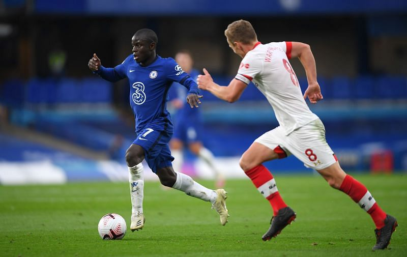Kante worked tirelessly as usual