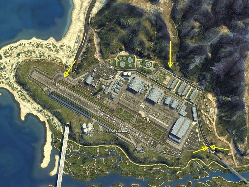 The army base, Fort Zancudo, inGTA 5(Image credits: gtawiki fandom)