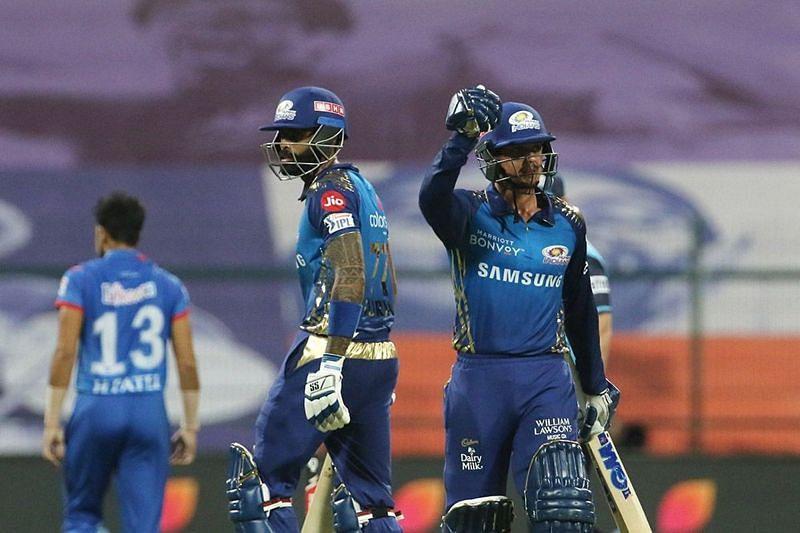 Quinton de Kock and Suryakumar Yadav scored half-centuries for the Mumbai Indians [P/C: iplt20.com]