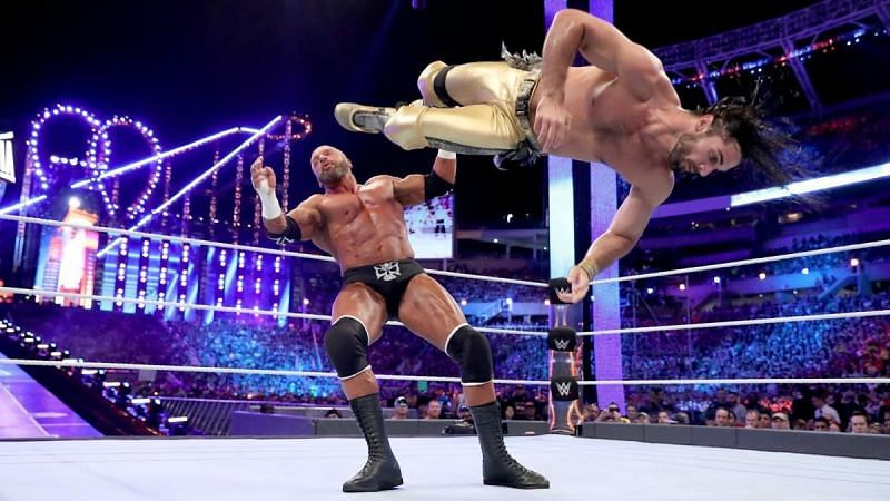 Seth Rollins and Triple H at WrestleMania 33