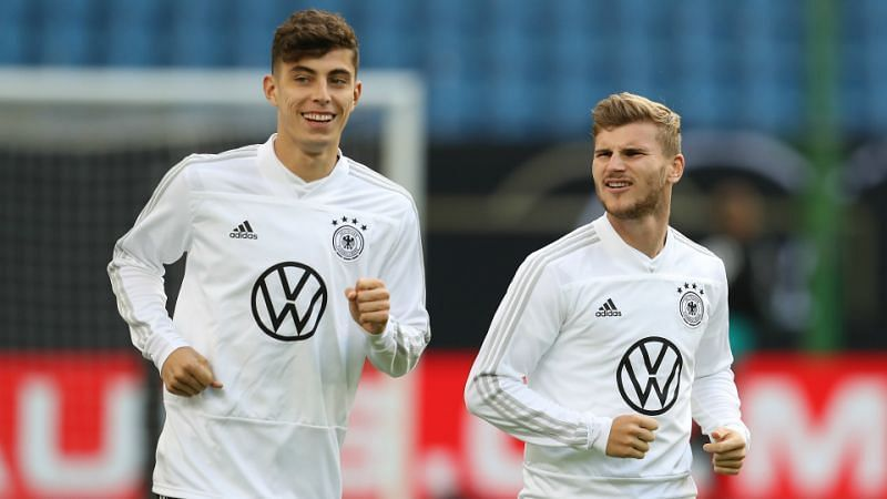 New signings Kai Havertz (left) and Timo Werner have opened their accounts for Chelsea.