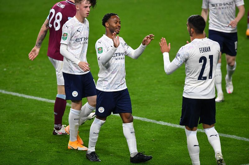 Raheem Sterling scored a brace in Manchester City