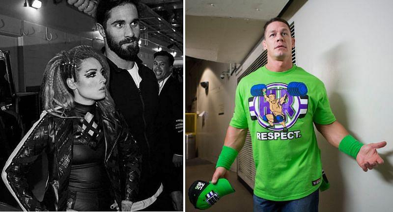 Becky Lynch and John Cena