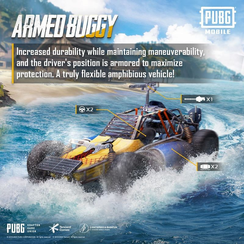 The Armed Buggy is loaded with weapons (Image Credits: PUBG Mobile / Twitter)