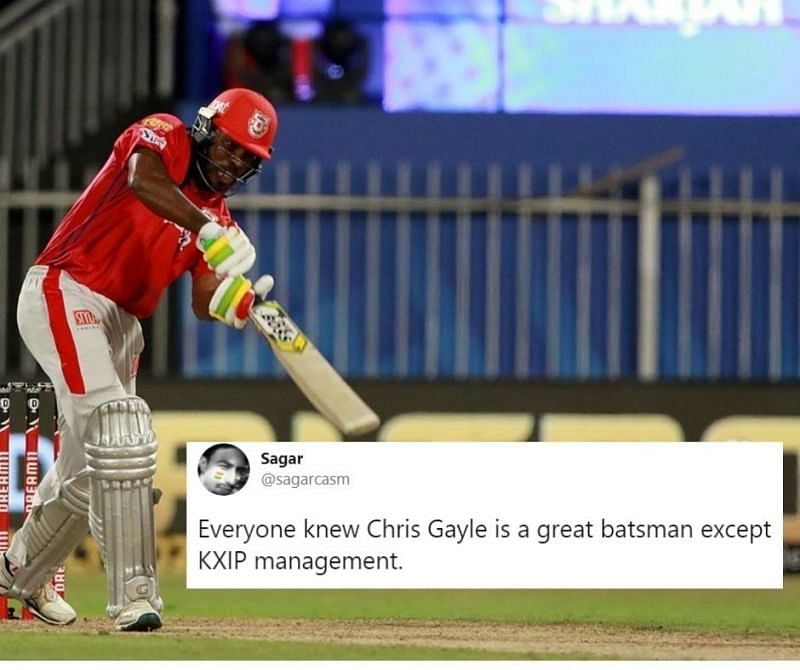 Chris Gayle scored a fifty on his IPL 2020 debut