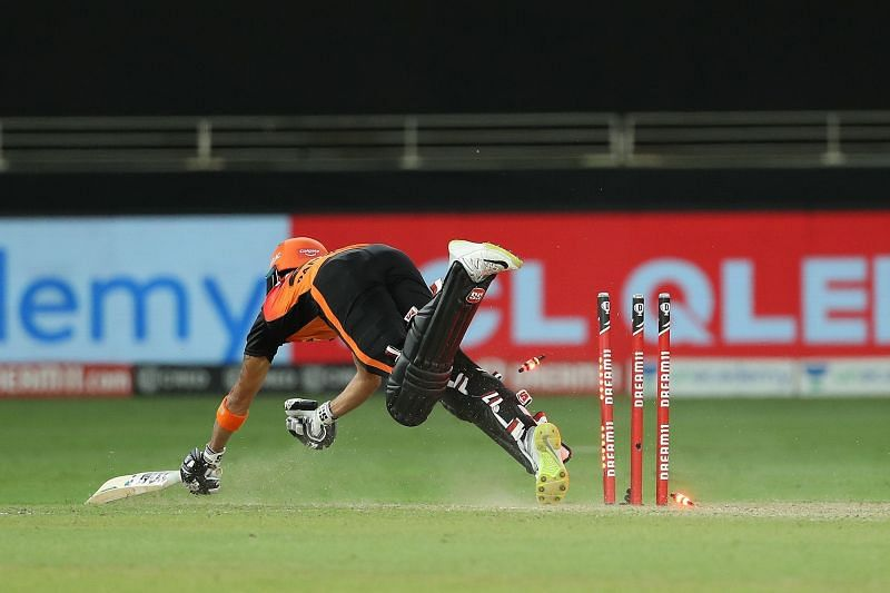 Manish Pandey misjudged a single to ensure two of SRH
